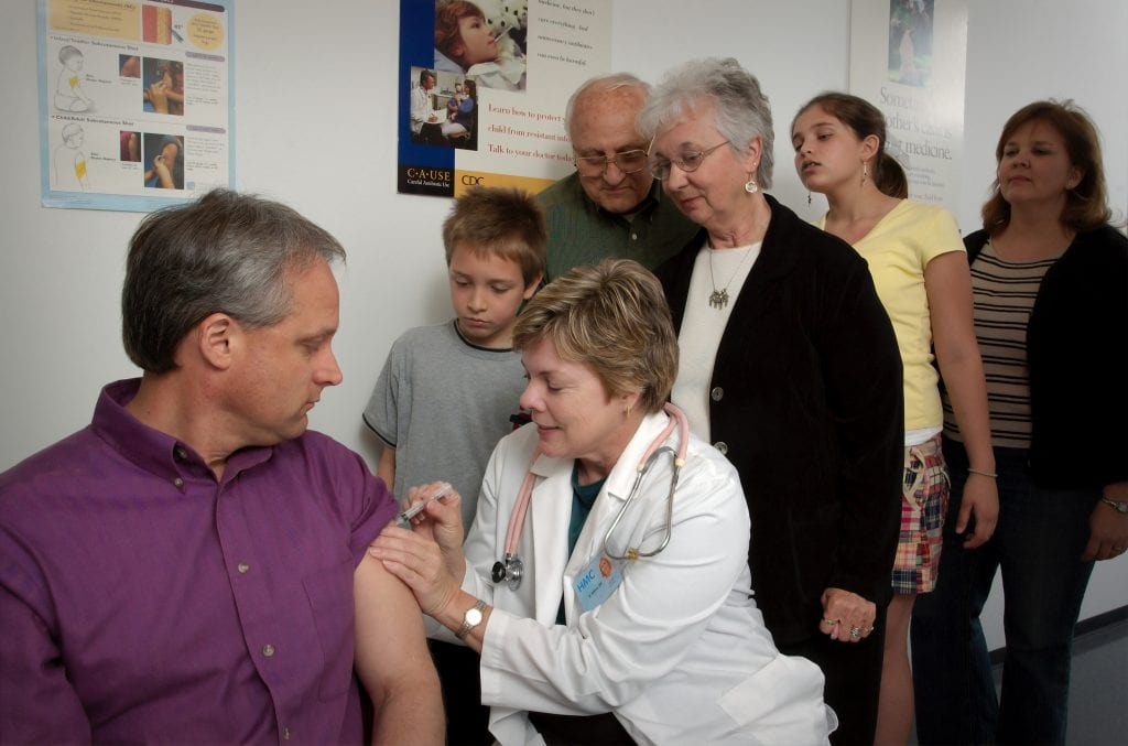 people waiting for COVID-19 vaccine
