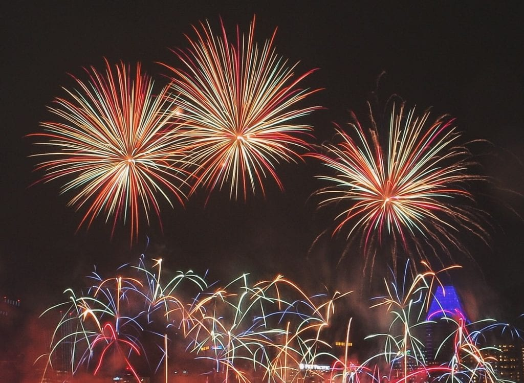 celebrating weight loss success fireworks