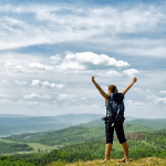 photo of healthy woman hiking