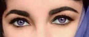 genetic weakness elizabeth taylor purple eyes