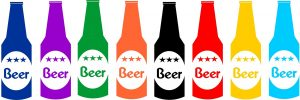 colorful bottles of beer