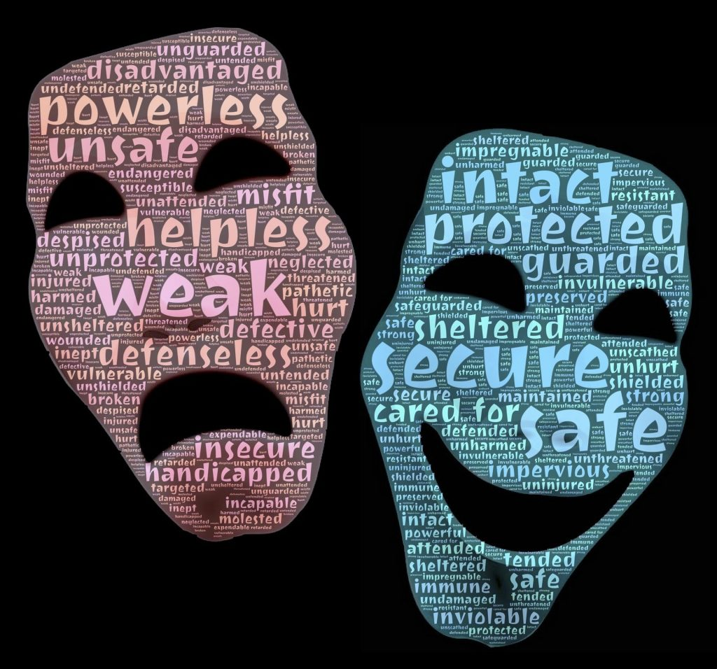 masks of anxiety