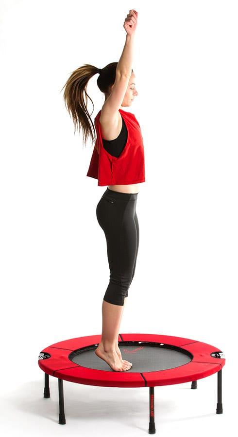 woman on rebounder